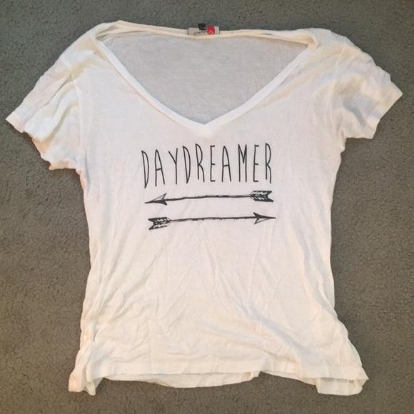 Free Your Heart Apparel Tops Daydreamer White Tshirt Poshmark